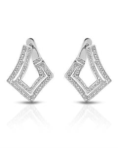 Brand New Earring with 0.5ctw diamond 10K White gold
