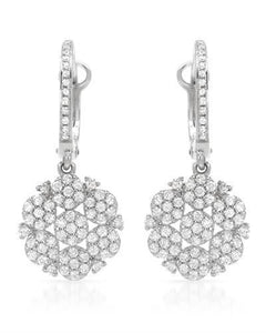 Brand New Earring with 0.79ctw diamond 14K White gold
