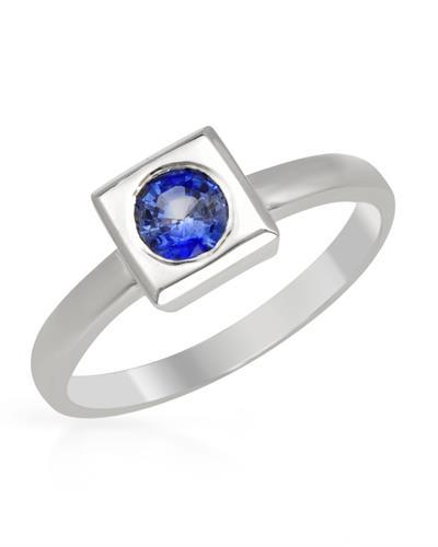 Brand New Ring with 0.5ctw sapphire 14K White gold