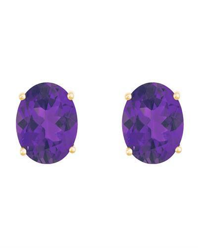 Brand New Earring with 2.4ctw amethyst 14K Yellow gold