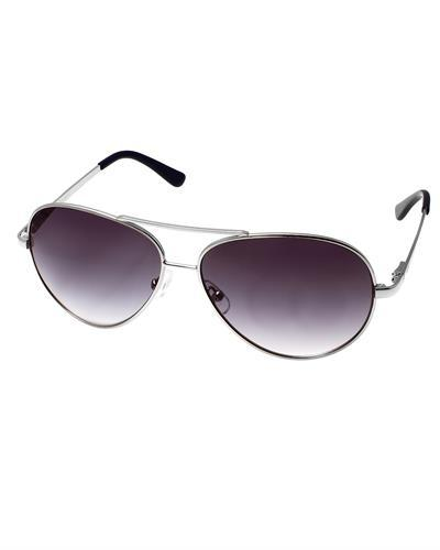 AQS AVS004 Steel/Purple Aviator I Brand New Sunglasses  Silver metal