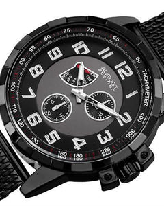 AUGUST Steiner AS8202BK Brand New Quartz day date Watch