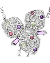 Load image into Gallery viewer, Whitehall Brand New Necklace with 2.78ctw of Precious Stones - amethyst, diamond, peridot, and tourmaline 14K White gold