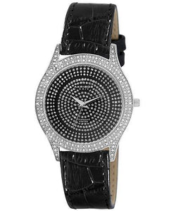 Akribos XXIV AK464BK Brand New Swiss Movement Watch with 0.06ctw diamond