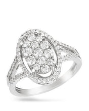 Load image into Gallery viewer, Brand New Ring with 0.84ctw diamond 14K White gold