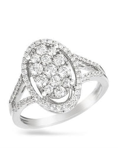 Brand New Ring with 0.84ctw diamond 14K White gold