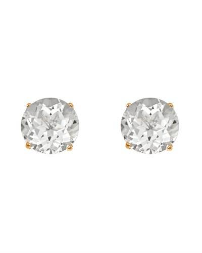 Brand New Earring with 3ctw topaz 14K Yellow gold