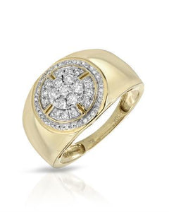 Brand New Ring with 0.49ctw diamond 10K Yellow gold