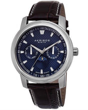 Load image into Gallery viewer, Akribos XXIV AK573BU Brand New Swiss Quartz day date Watch