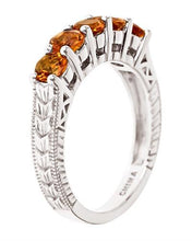 Load image into Gallery viewer, Brand New Ring with 1.25ctw citrine 925 Silver sterling silver