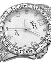 Load image into Gallery viewer, burgi BUR137 Brand New Quartz date Watch with 0.04ctw of Precious Stones - crystal and diamond