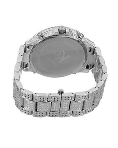 Techno Com by KC Brand New Japan Quartz Watch with 7ctw of Precious Stones - diamond and diamond