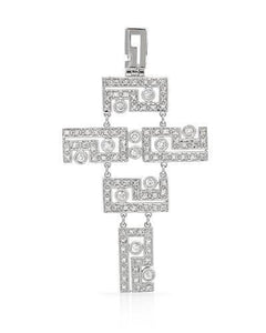 Brand New Pendant with 0.66ctw diamond 18K White gold