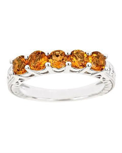 Brand New Ring with 1.25ctw citrine 925 Silver sterling silver