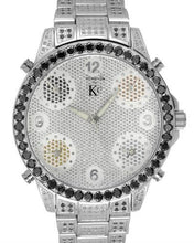 Load image into Gallery viewer, Techno Com by KC Brand New Japan Quartz Watch with 7ctw of Precious Stones - diamond and diamond