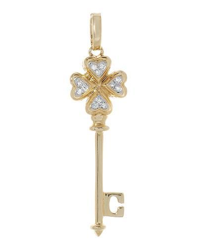 Lundstrom Brand New Pendant with 0.04ctw diamond 14K Yellow gold