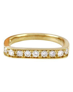 0.50 Carat Natural Diamond 14K Solid Yellow Gold Ring