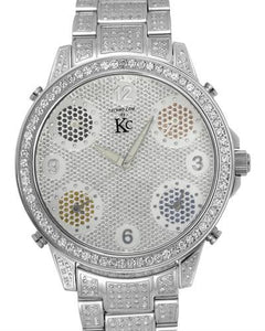 Techno Com by KC Brand New Japan Quartz Watch with 4ctw diamond