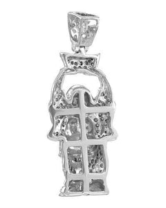 Brand New Pendant with 0.33ctw diamond 925 Silver sterling silver