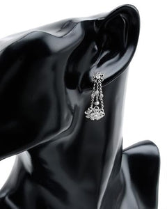Brand New Earring with 0.39ctw diamond 14K White gold