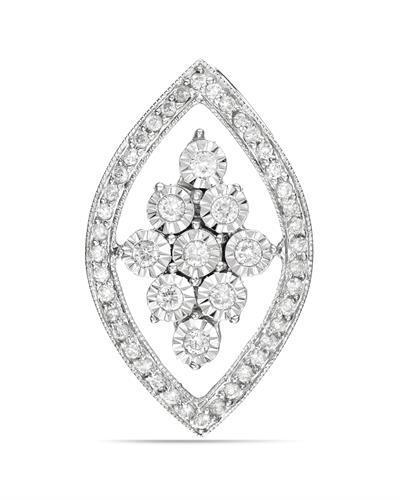 Brand New Pendant with 0.35ctw diamond 14K White gold
