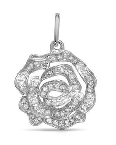 Brand New Pendant with 0.17ctw diamond 14K White gold