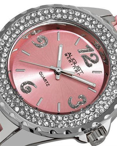AUGUST Steiner AS8036PK Brand New Japan Quartz Watch with 0ctw crystal