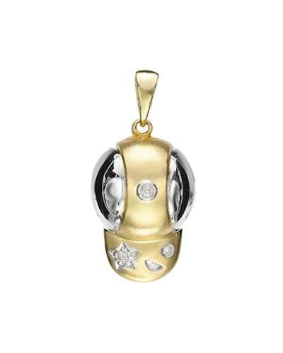 Brand New Pendant with 0.03ctw diamond 14K Two tone gold