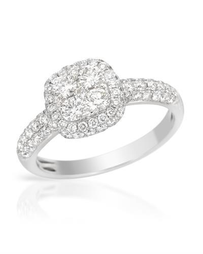 Brand New Ring with 1.2ctw diamond 14K White gold