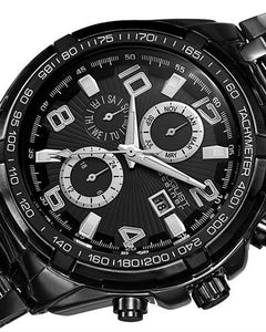 AUGUST Steiner AS8127BK Brand New Swiss Quartz day date Watch