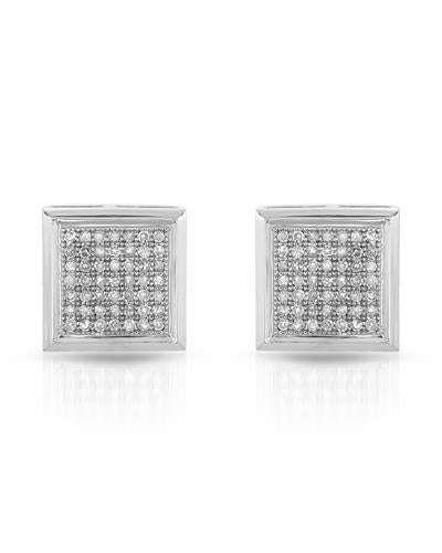 Brand New Earring with 0.33ctw diamond 14K White gold