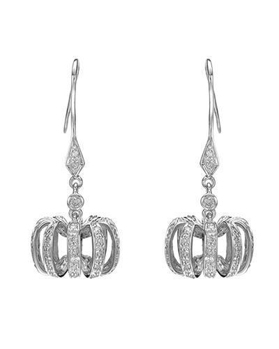 Lundstrom Brand New Earring with 0.4ctw diamond 14K White gold