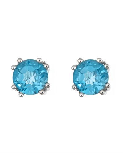 Brand New Earring with 3.1ctw topaz 925 Silver sterling silver