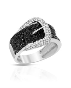 Lundstrom Brand New Ring with 1.5ctw of Precious Stones - diamond and diamond 10K White gold