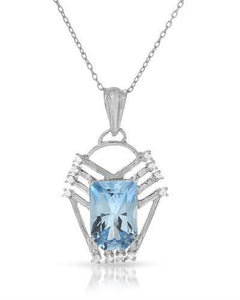Brand New Necklace with 6.88ctw of Precious Stones - topaz and topaz 925 Silver sterling silver