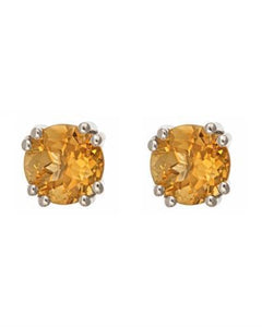 Brand New Earring with 2.5ctw citrine 925 Silver sterling silver