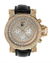 Load image into Gallery viewer, Techno Com by KC Brand New Japan Quartz date Watch with 1.5ctw of Precious Stones - crystal, diamond, and mother of pearl