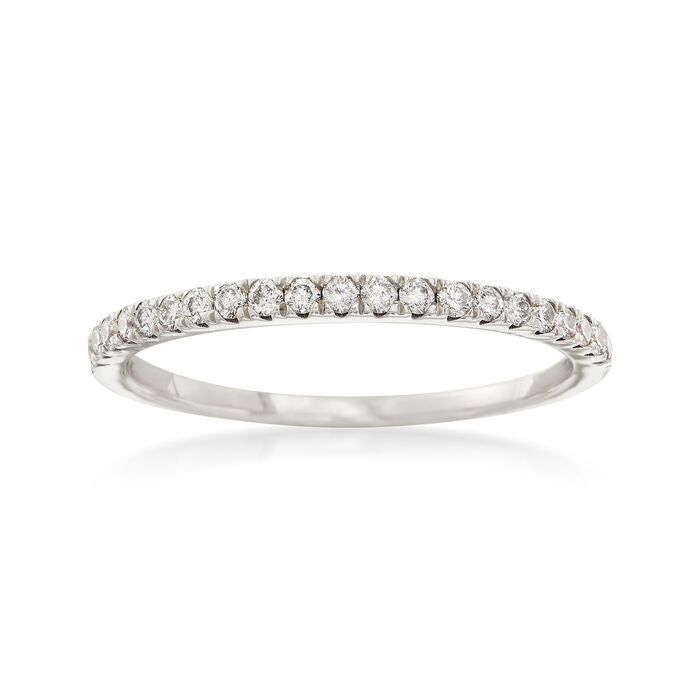 14K White Gold Stackable Band