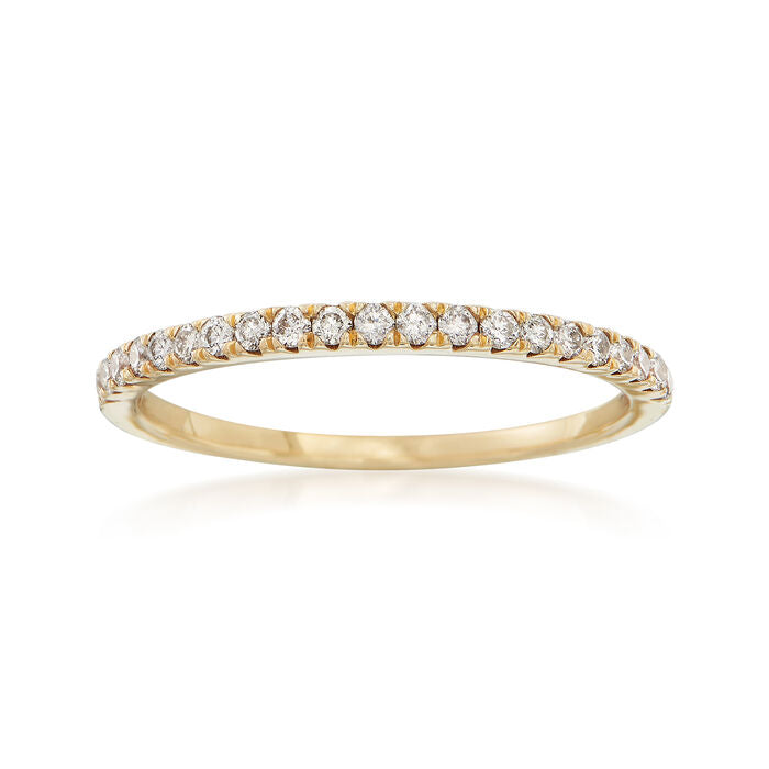 14K Yellow Gold Stackable Band