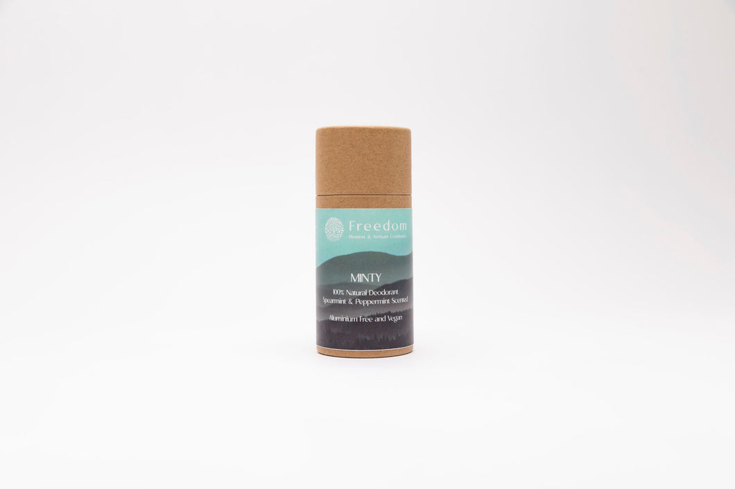 Minty Natural Deodorant - Spearmint and Peppermint Scented - 70g