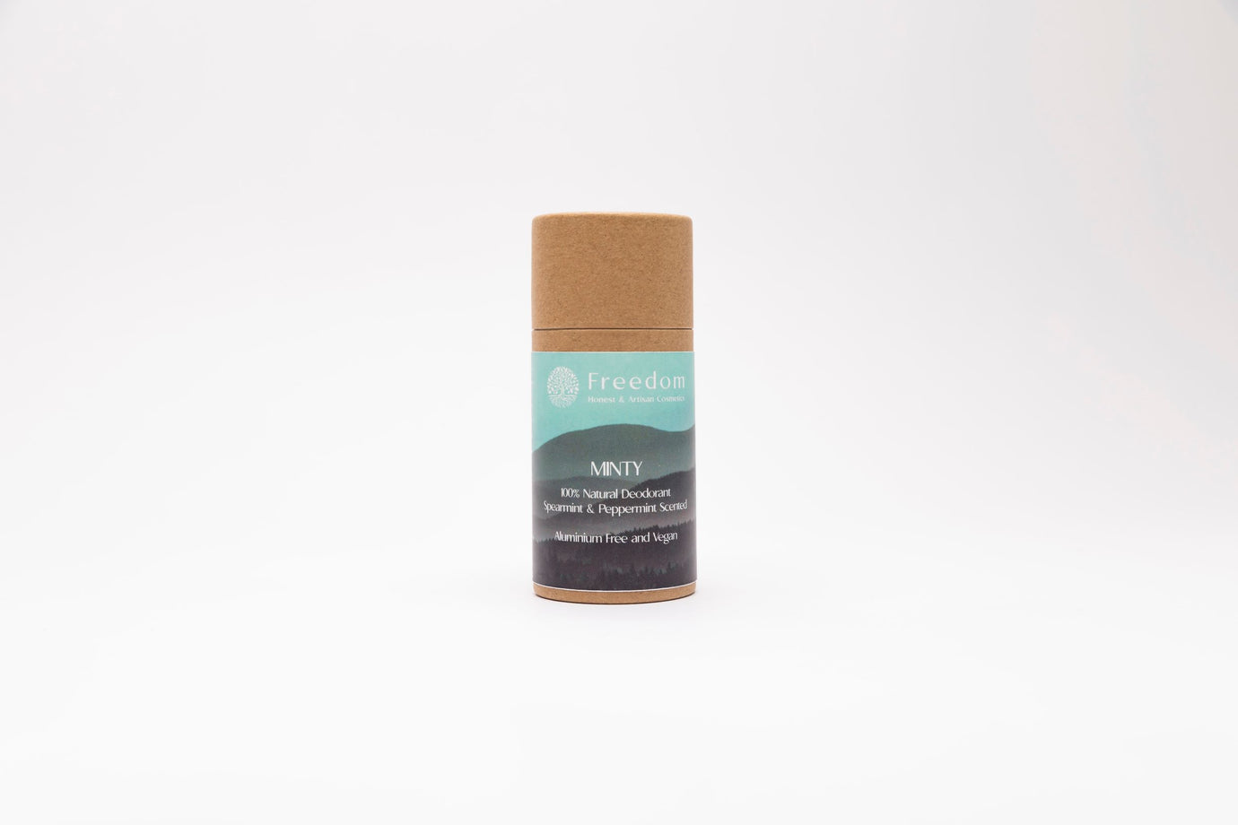 Minty Natural Vegan Deodorant - Spearmint and Peppermint Scented - 70g