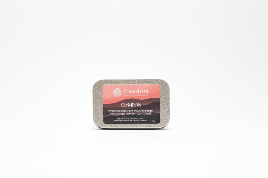 Olympian - Problematic Skin Natural Moisturising Balm - Sweet Orange and Clary Sage Scent
