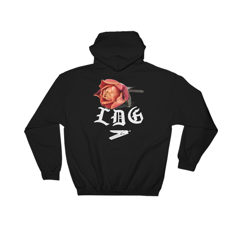 LDG DEAD ROSE BLACK Hooded Sweatshirt