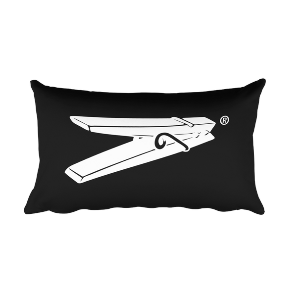 LDG Pin Rectangular Pillow Black