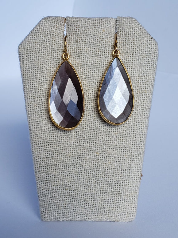 Chocolate Moonstone (Large) Earrings