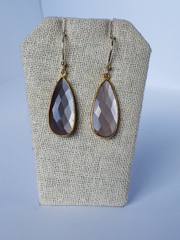Chocolate Moonstone (Medium) Earrings