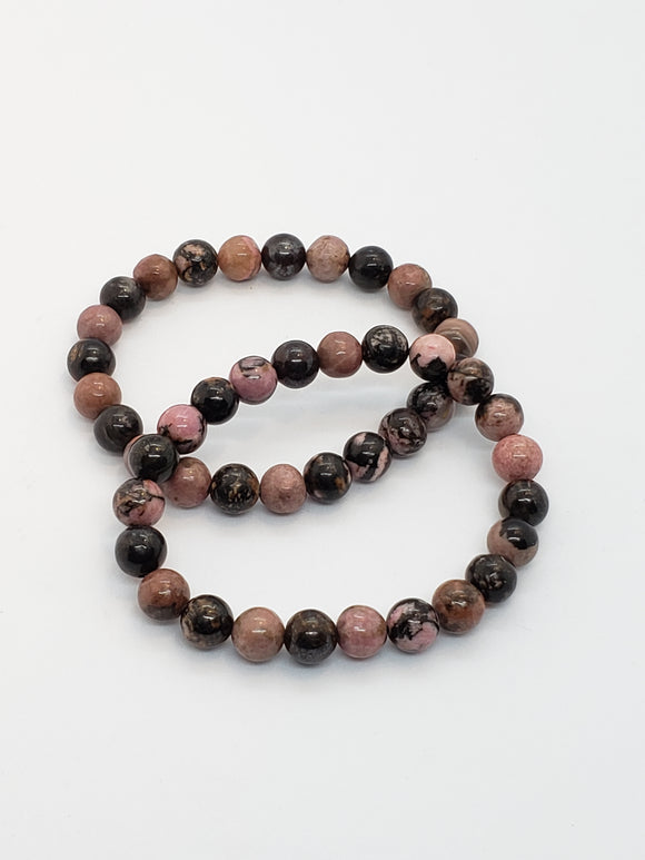 Rhodonite (8mm) Healing Bracelet