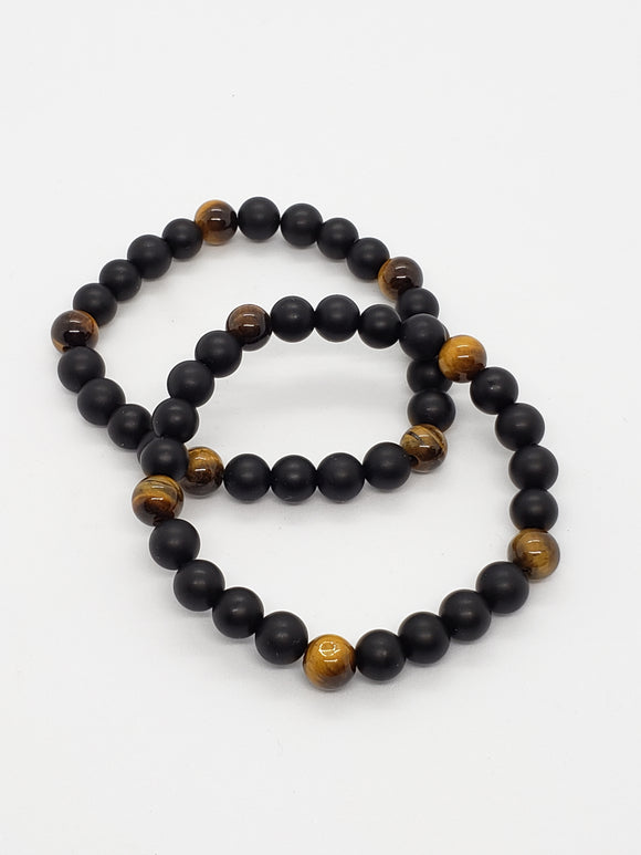 Tiger Eye & Onyx (8mm) Healing Bracelet