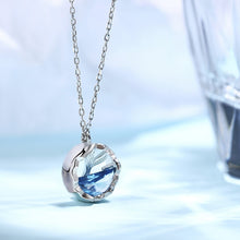 Load image into Gallery viewer, Huitan New Fashion Delicate Round Pendent Necklace for Women Ocean Mermaid Tail Romantic Love Birthday Anniversary Gift Jewelry