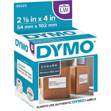 "DYM30323 DYMO LW LABELS WHITE 220 SHIPPING 2.125"" x 4"""